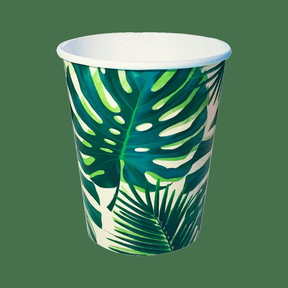 Gobelet Carton Tropical Vert x8