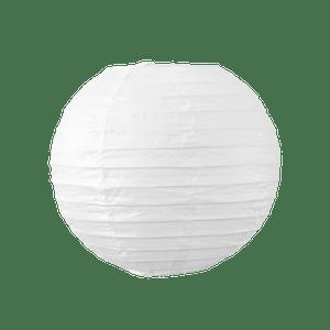 Boule papier 20cm Blanc