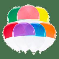 Ballon Bicolore Latex Multicolore x7