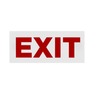 Façade Exit Blanc PVC pour Boite Lumineuse