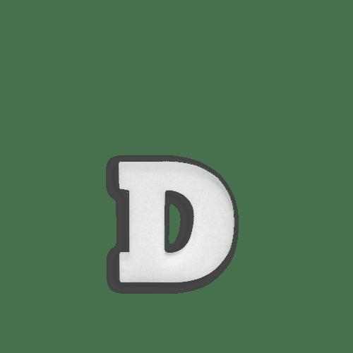 Lettre D en Polystyrène 10cm