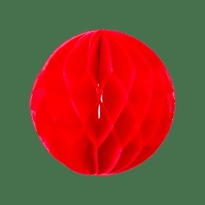 Boule chinoise alvéolée 20 cm Rouge
