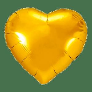 Ballon Coeur Or 61 cm