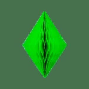 Cristal alvéolé 30 cm Vert