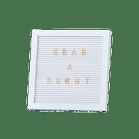 Letter Board Blanc 25 cm + 161 Lettres Or