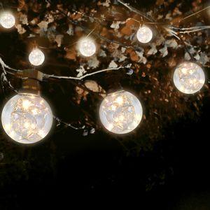 Guirlande Guinguette Micro LED Gros Bulbes 10 m Cable Noir