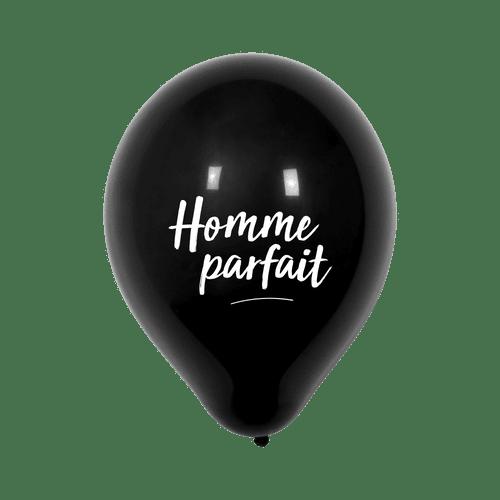 """Ballon Mariage """"Homme parfait"""" Noir"""