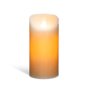 Bougie Led Flamme Vacillante Blanc 20 cm