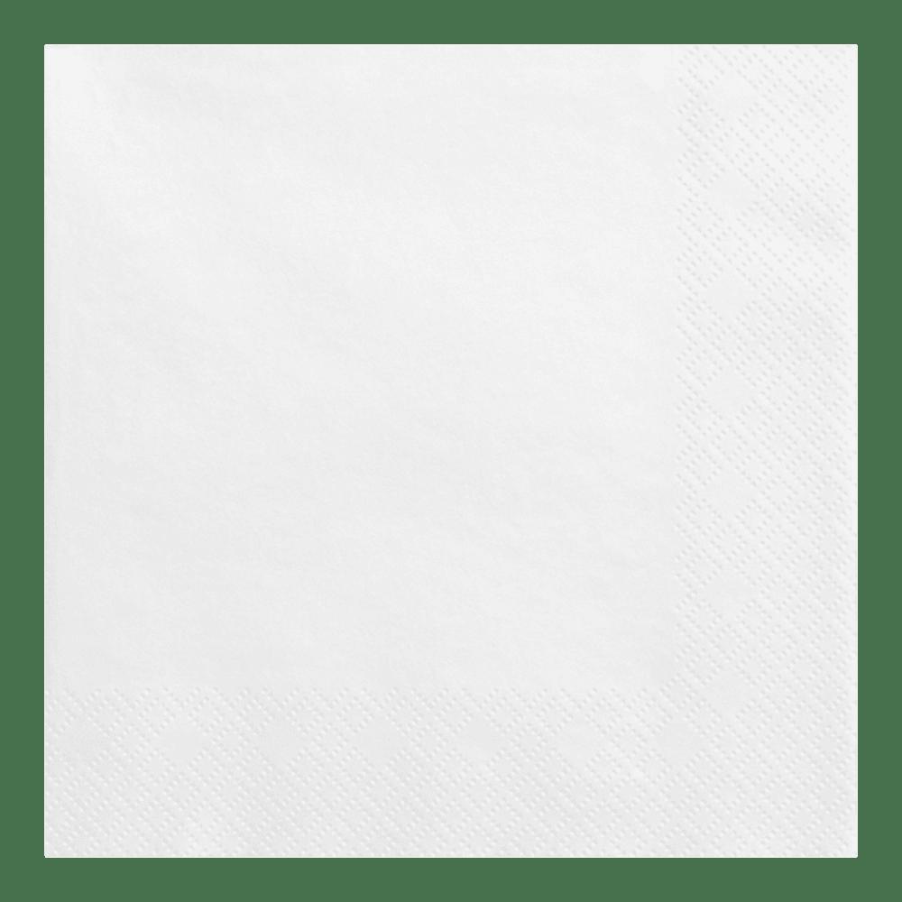 Serviette Papier Blanc x20