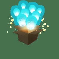 Balloon Turquoise x3