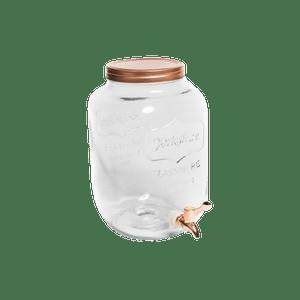 Distributeur De Boisson 8 litres Verre Rose Gold