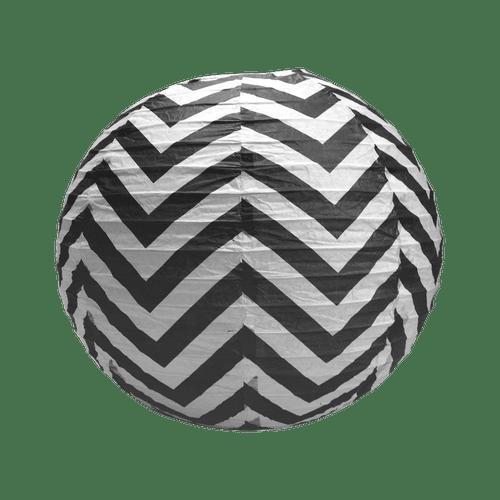 Boule papier 35cm Chevron Noir
