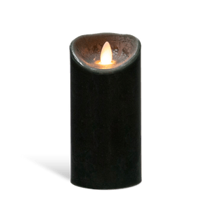 Bougie Led Flamme Vacillante Noir 20 cm