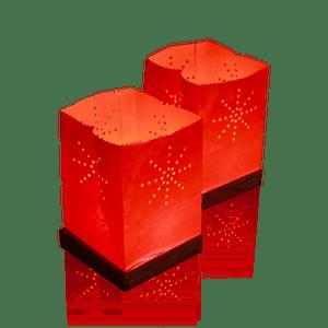Sac Lumineux Flottant Tulum Orange x2