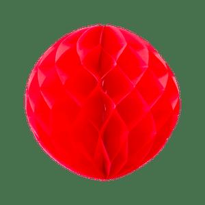 Boule chinoise alvéolée 30 cm Rouge