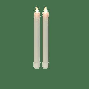 Chandelles LED Ivoire Flamme Vacillante x2 Télécommandable