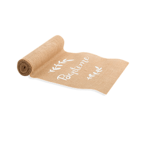 Chemin De Table Jute Baptême Naturel 5 m