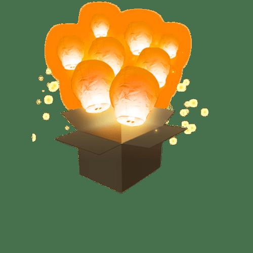 Balloon Orange x5