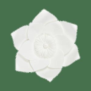 Fleur En Papier Clématite Blanc 30 cm