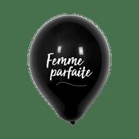 """Ballon Mariage """"Femme parfaite"""" Noir"""