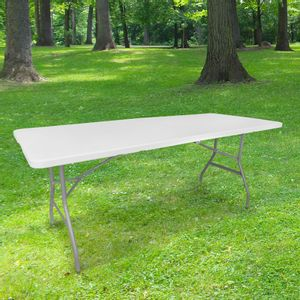 Table Pliante 180x74 cm Blanc
