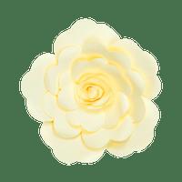 Fleur En Papier Rose Jaune Pâle 30 cm
