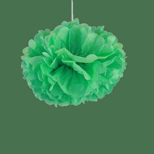 Décoration Pour Mariage & Fête Pompons Vert D'Eau 30Cm (Lot De 6 Pièces)