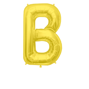 Ballon Lettre B Or 90 cm