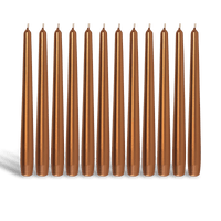 Pack de 12 chandelles Bronze 23x25cm