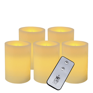Pack Pilier LED standard ivoire 7x10cm avec Télécommande