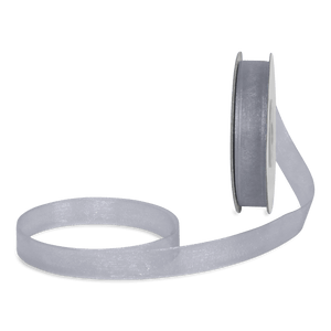 Ruban Satin Argent 12mm x 25m