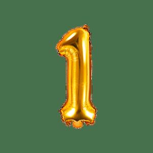 Ballon Chiffre 1 Or 35 cm