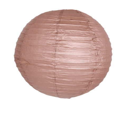 Decoration Pour Mariage, Fête, Anniversaire Boule Papier 40Cm Chocolat (Lot De 3 Pièces)