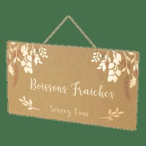 Pancarte Kraft Boissons fraîches 47 cm
