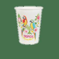 Gobelet Carton Tropical Blanc x10