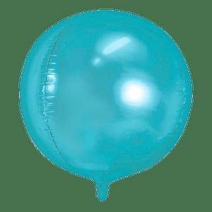 Ballon Rond Aluminium bleu 40cm