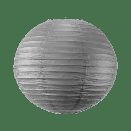 Boule papier 40cm Gris
