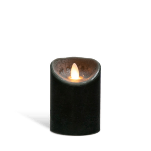Bougie Led Flamme Vacillante Noir 14,5 cm