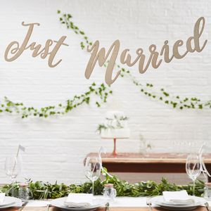 Guirlande Just Married en Bois 1,5m