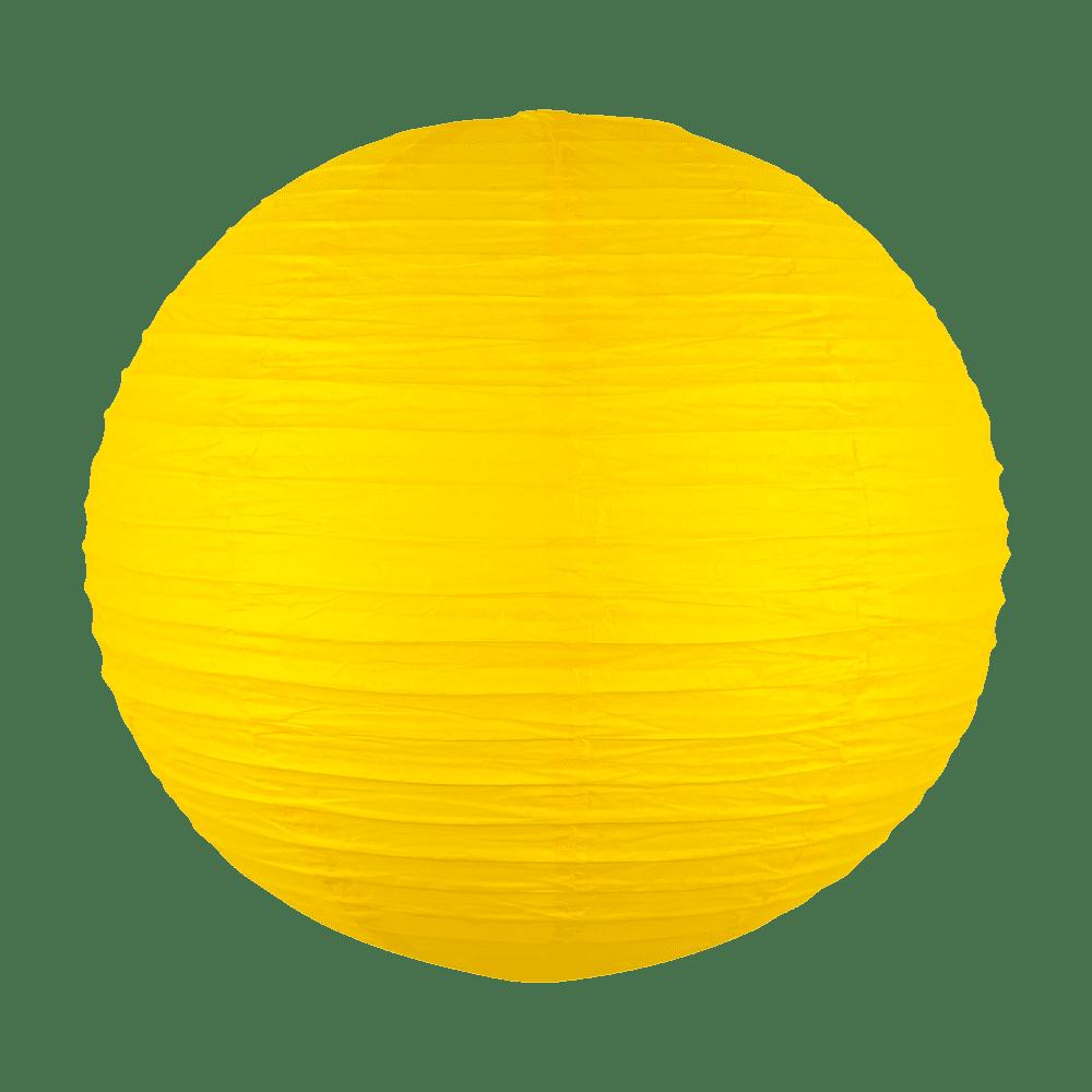 Boule papier 50cm Jaune
