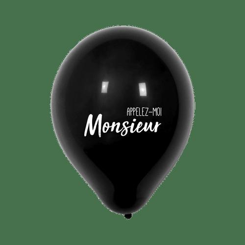 "Ballon Mariage ""Appelez-moi Monsieur"" Noir"