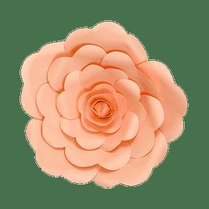 Fleur En Papier Rose Pêche 30 cm