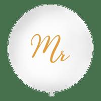 Ballon Geant Mr Blanc et Or 1 m