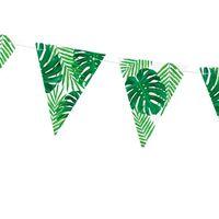 Guirlande Papier Tropical Vert et Blanc