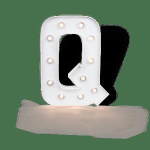 Lettre Lumineuse Q