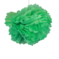Deco Pour Mariage, Fête, Anniversaire Pompons Vert D'Eau 50Cm (Lot De 4 Pièces)
