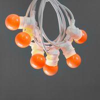 Guirlande Lumineuse Extérieur Orange 10 m Cable Blanc
