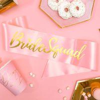 Echarpe Satin Bride Squad Rose et Or