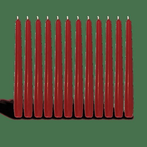 Pack de 12 chandelles Carmin 2,3x25cm