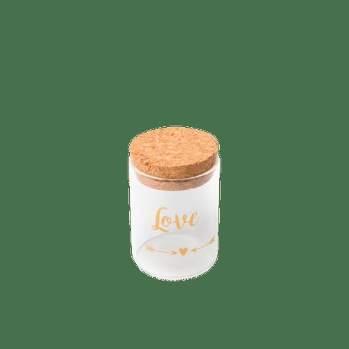 Fiole En Verre Love Or 4,5 cm